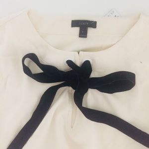 Long sleeve cotton J Crew shirt with velvet bow